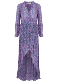 BERENICE River Silk Mix Printed Dress - Bal Harbour