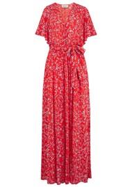 BERENICE Rafael Long Printed Maxi Dress - Cafe Del Mare