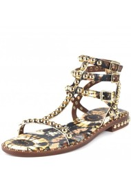 Ash Play Bis Studded Sandals - Lezard Cuoio