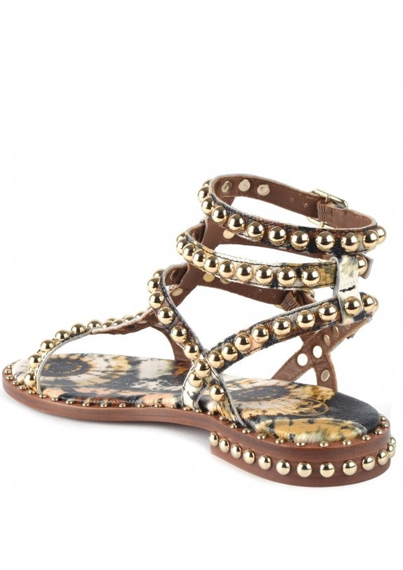 Ash Play Bis Studded Sandals - Lezard Cuoio main image