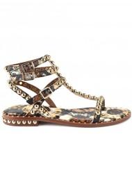 Ash Play Bis Studded Sandals - Lezard Cuoio