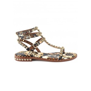 Play Bis Studded Sandals - Lezard Cuoio