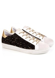 AIR & GRACE Cru Trainers - Black & Gold