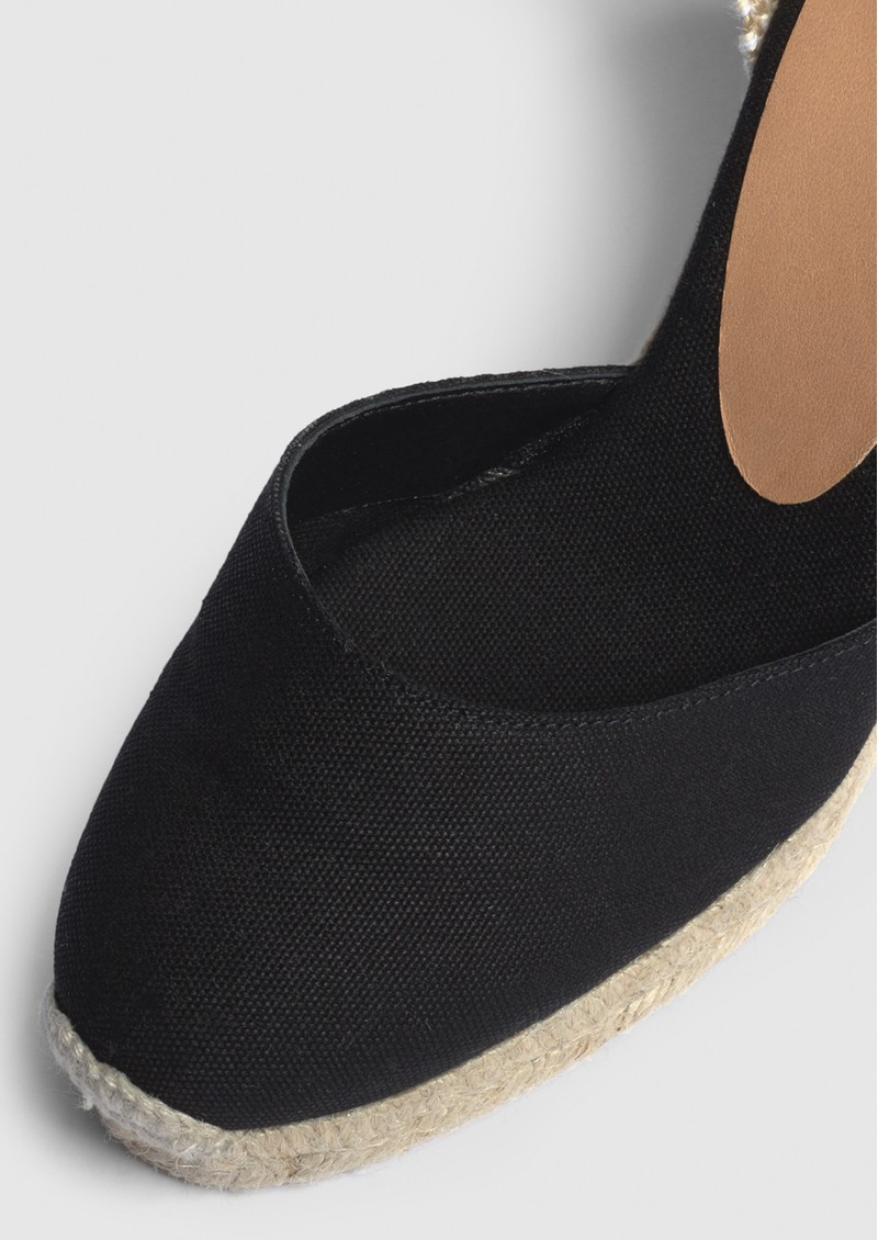 CASTANER Carina 8 Espadrille Wedge Sandal - Black main image