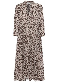 Day Birger et Mikkelsen  Mio Midi Leopard Dress - Smoke