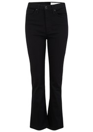 RAG & BONE Nina High Rise Ankle Flare Jeans - No Fade Black
