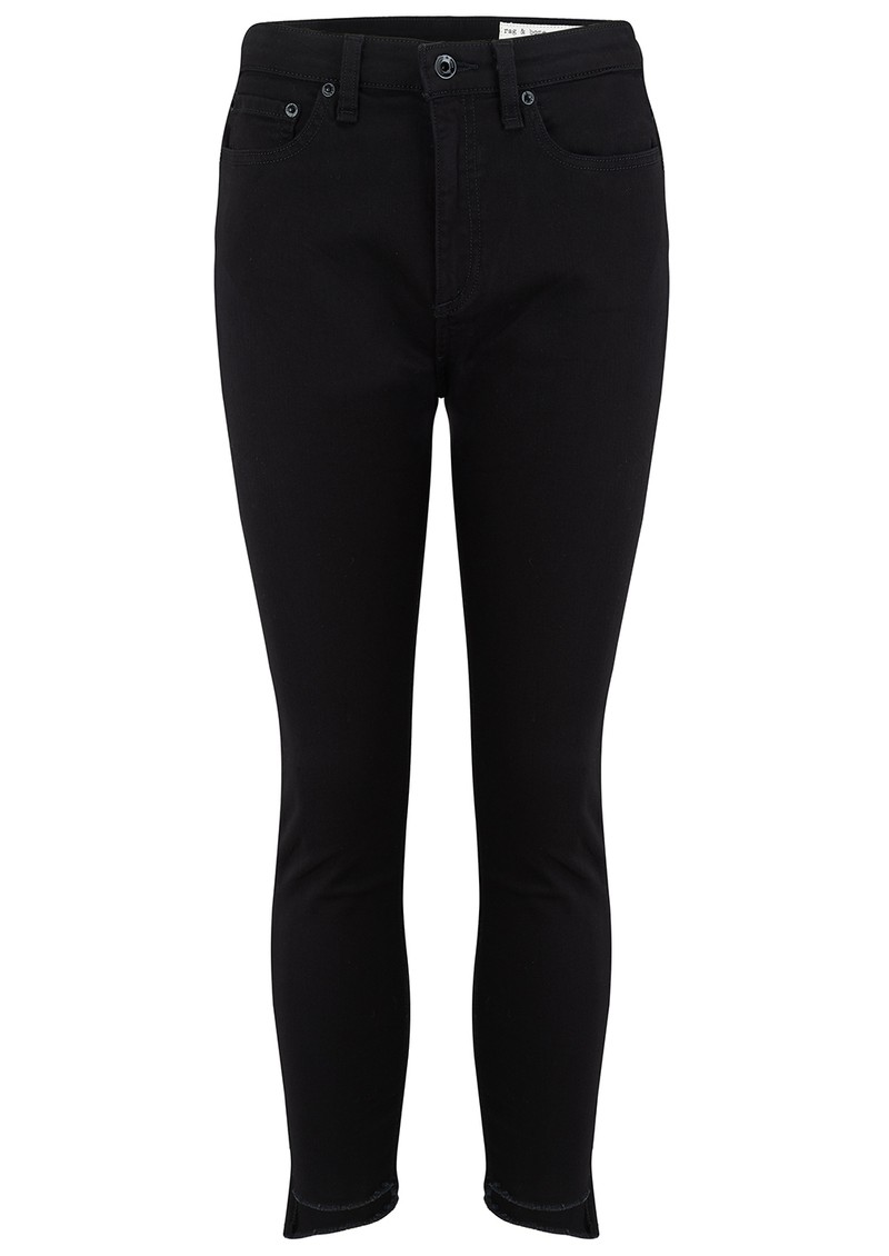 RAG & BONE Nina High Rise Ankle Skinny Stepped Hem Jeans - Black Hampton main image