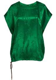 ESSENTIEL ANTWERP Vuvuzela Floral Printed Jacquard Top - Green