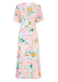 HAYLEY MENZIES Midi Belted Silk Dress - Luna Floral