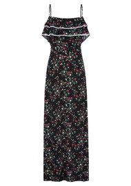 HAYLEY MENZIES Maxi Frill Silk Dress - Eve