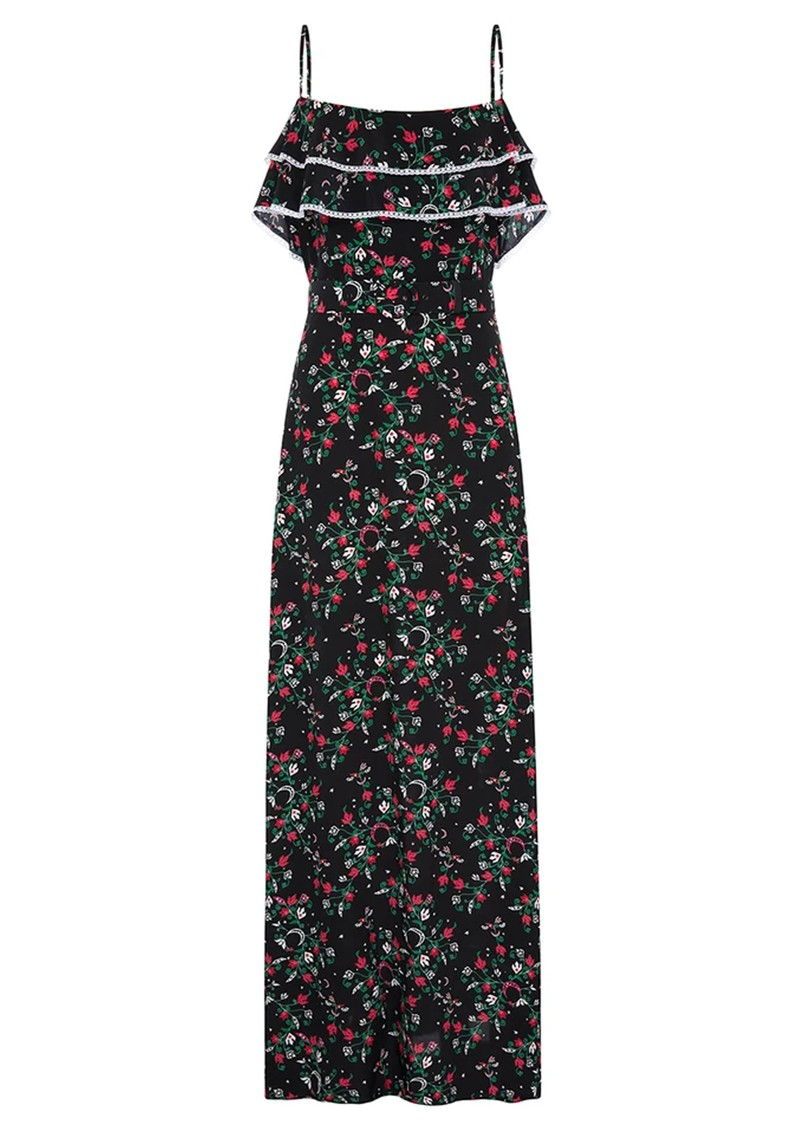 HAYLEY MENZIES Maxi Frill Silk Dress - Eve main image