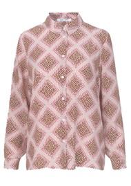 SAMSOE & SAMSOE Alessandra AOP Silk Shirt - Foulard