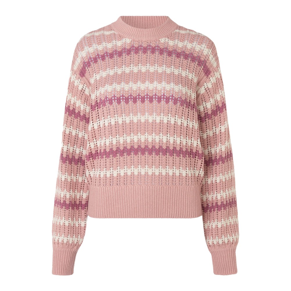 Awa Crew Neck Sweater - Misty Rose