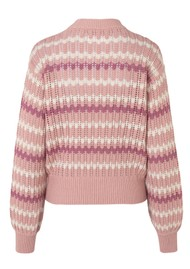 SAMSOE & SAMSOE Awa Crew Neck Sweater - Misty Rose