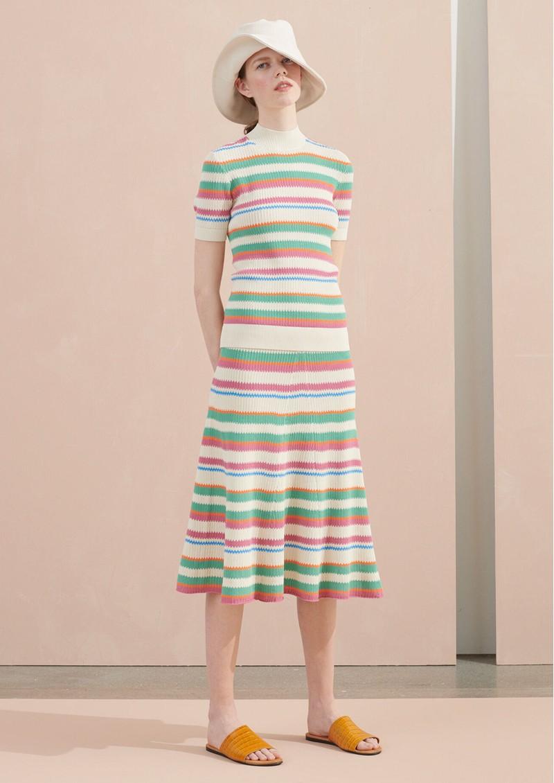 SAMSOE & SAMSOE Maik Knitted Skirt - Creme De Menth main image