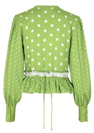 STINE GOYA Mena Top - Dots Green