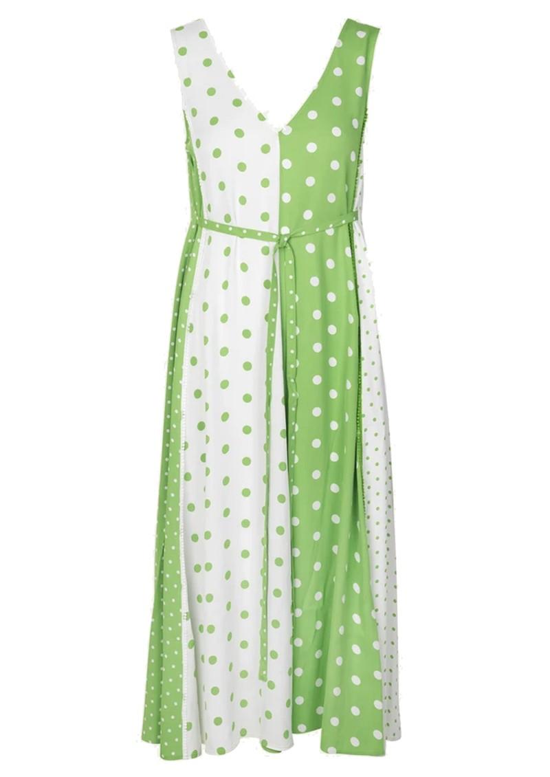 STINE GOYA Yara Dress - Green White Dots main image
