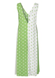 STINE GOYA Yara Dress - Green White Dots