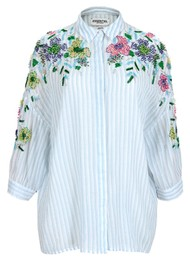 ESSENTIEL ANTWERP Veigns Beaded Cotton Shirt - Trinidad
