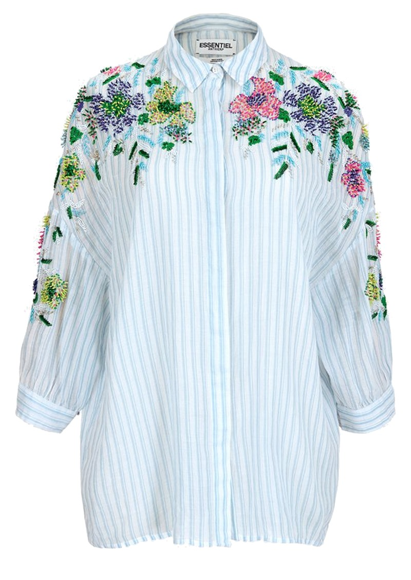ESSENTIEL ANTWERP Veigns Beaded Cotton Shirt - Trinidad main image
