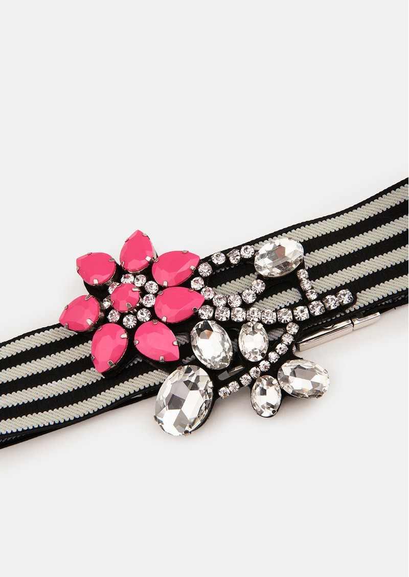 ESSENTIEL ANTWERP Vavalon Elasticated Flower Belt - Pink main image