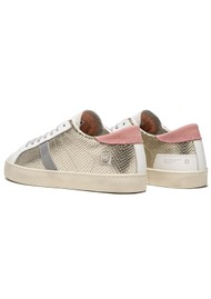 D.A.T.E Hill Low Metallic Trainers - Platinum