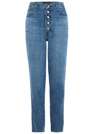 J Brand Heather High Rise Button Fly Slim Straight Jeans - Varsha Raze