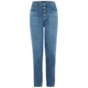 Heather High Rise Button Fly Slim Straight Jeans - Varsha Raze