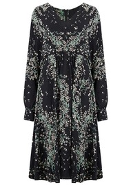 IDANO Alba Printed Midi Dress - Black