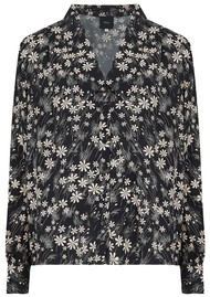 IDANO Thais Printed Shirt - Black