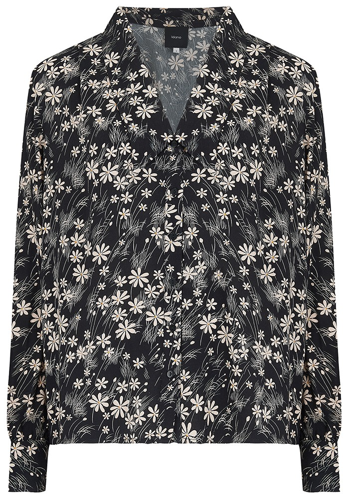 IDANO Thais Printed Shirt - Black main image