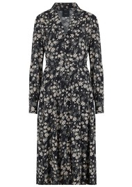 IDANO Tiffany Printed Shirt Dress - Black