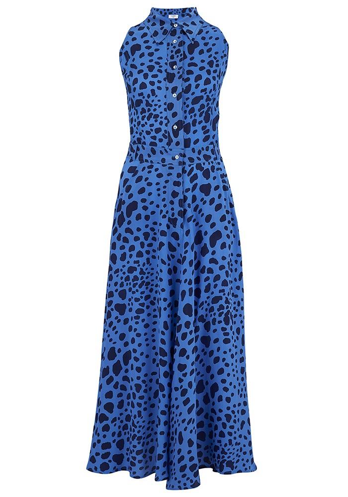 Mercy Delta Penrose Silk Dress - Stingray Sea main image