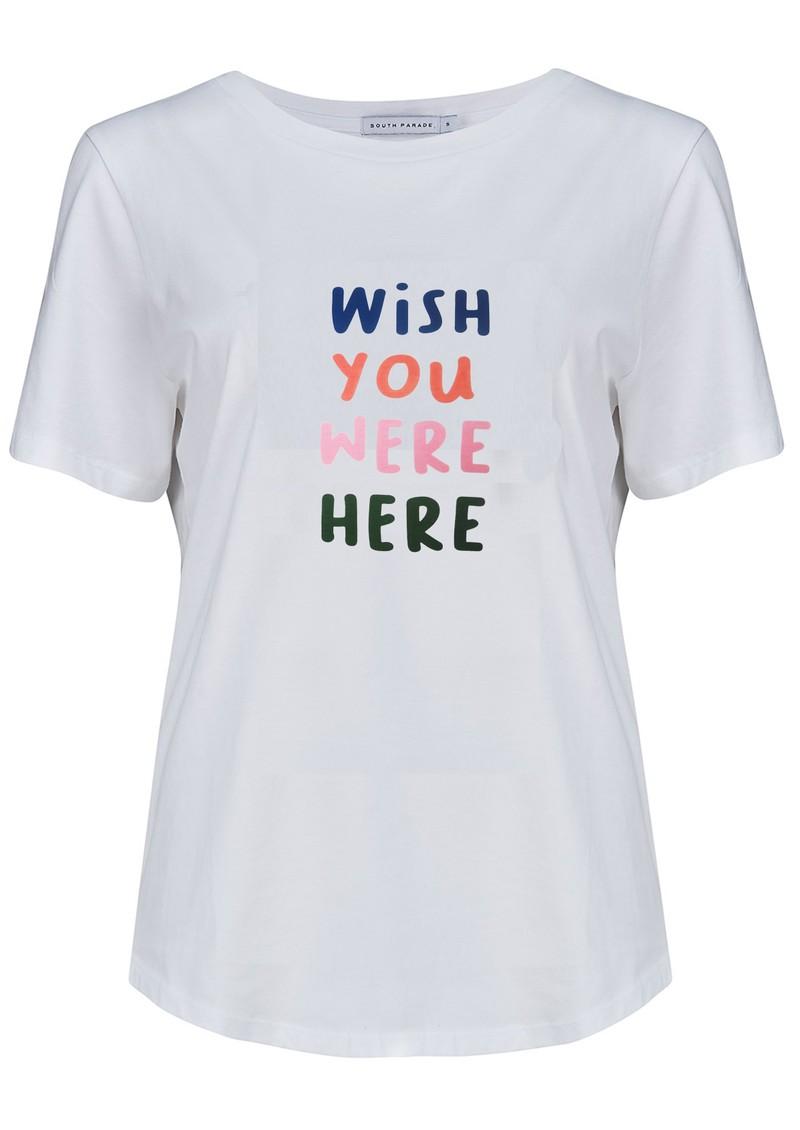 SOUTH PARADE Lola Wish You Were Here Cotton T-Shirt - White main image