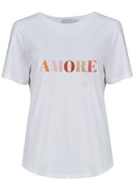 SOUTH PARADE Lola Amore Slogan T-Shirt - White