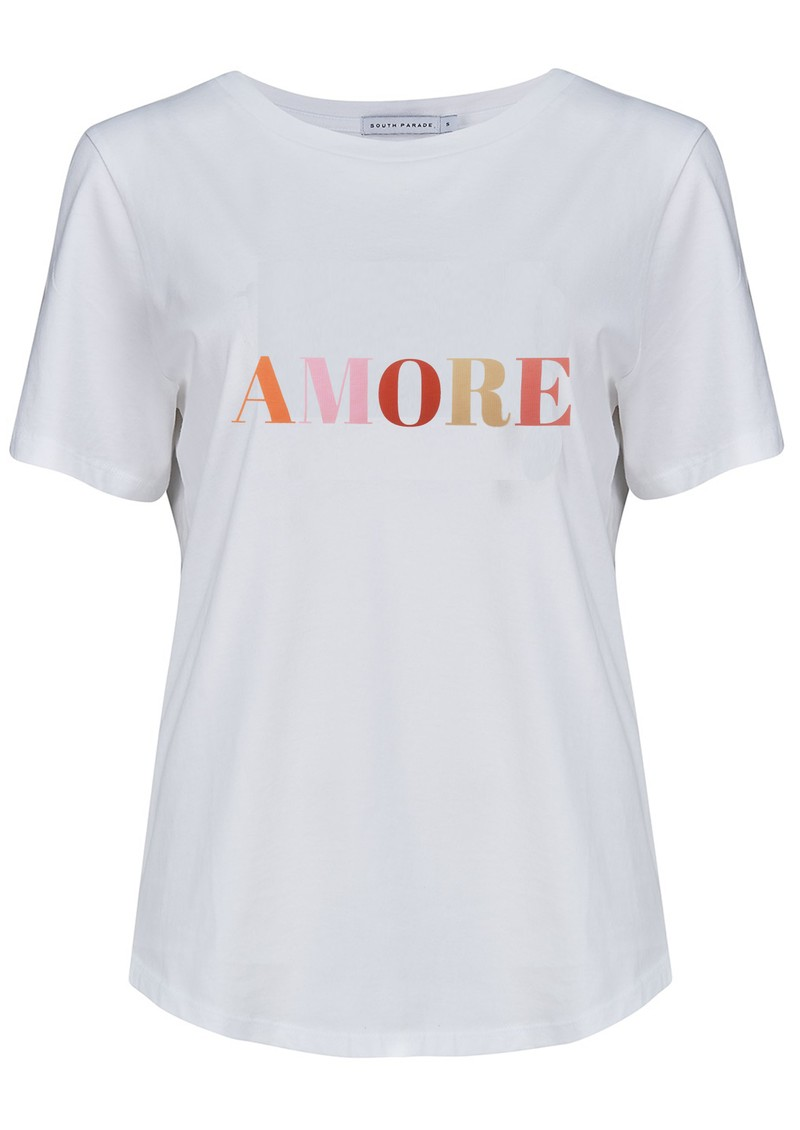 SOUTH PARADE Lola Amore Slogan T-Shirt - White main image