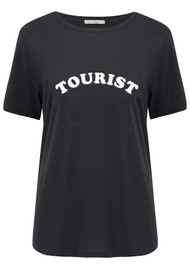SOUTH PARADE Lola Tourist Cotton T-Shirt - Black