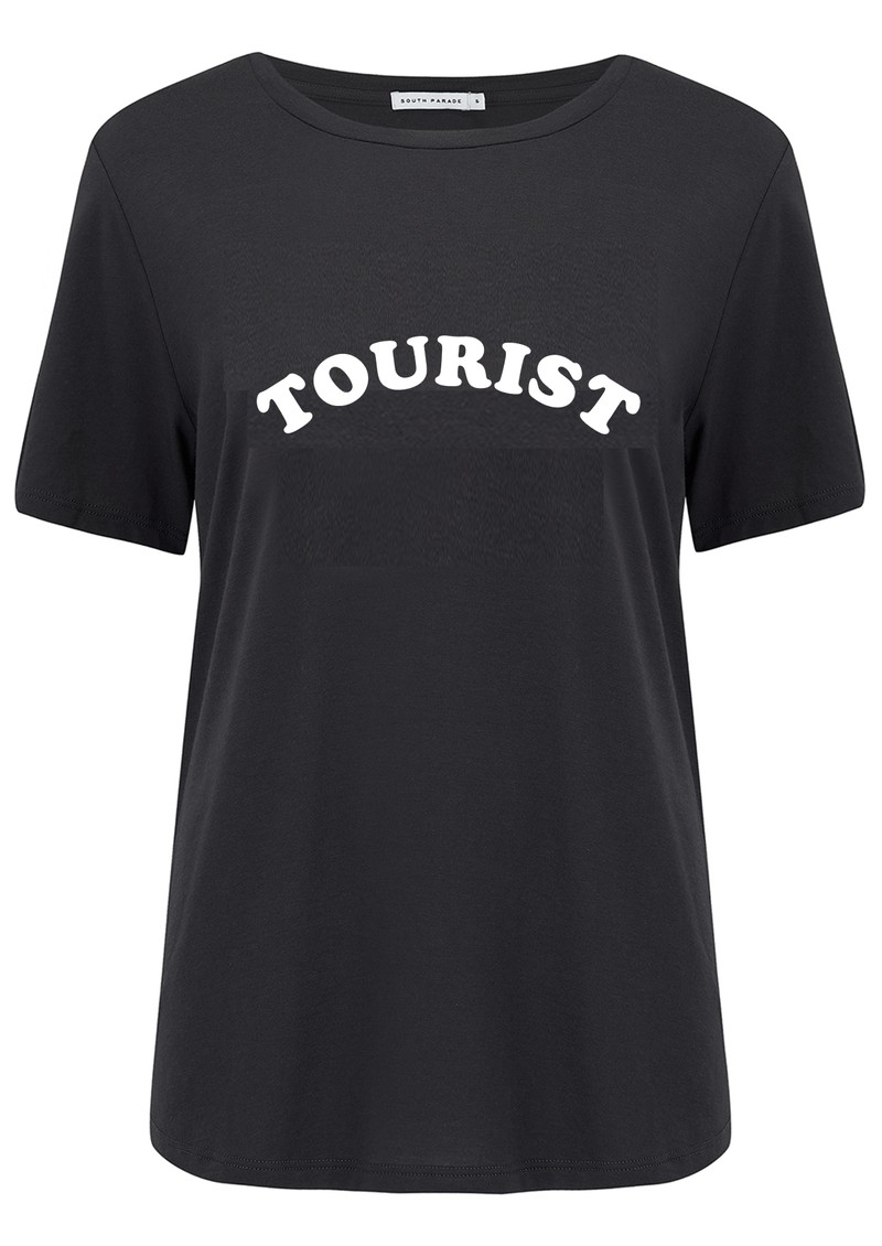 SOUTH PARADE Lola Tourist Cotton T-Shirt - Black main image