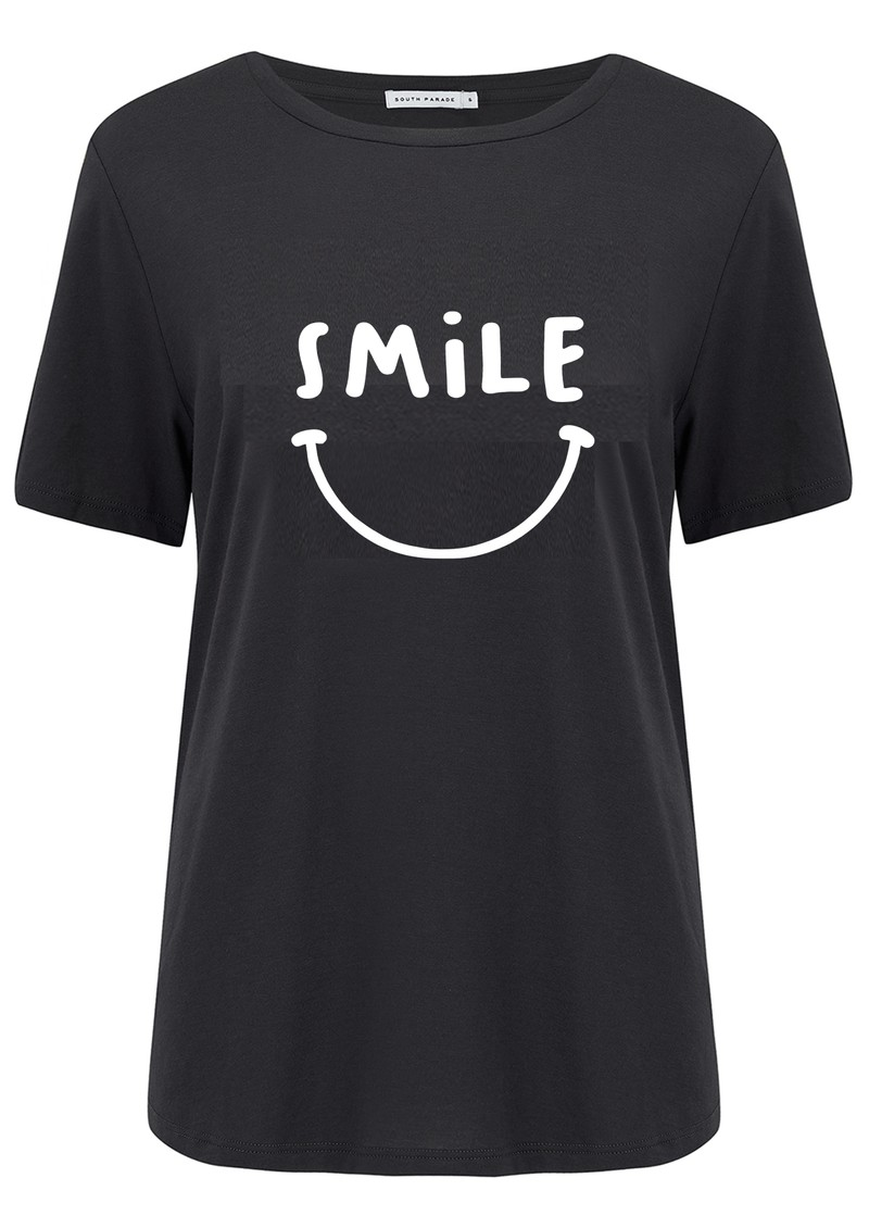 SOUTH PARADE Lola Smile Cotton T-Shirt - Black main image