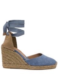 CASTANER Carina 8T Espadrille Wedge Sandal - Jeans Claro