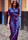 FABIENNE CHAPOT Mia Printed Maxi Dress - Fan Blue