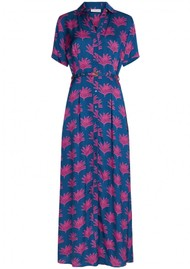 FABIENNE CHAPOT Mia Printed Maxi Dress - Fan Blue