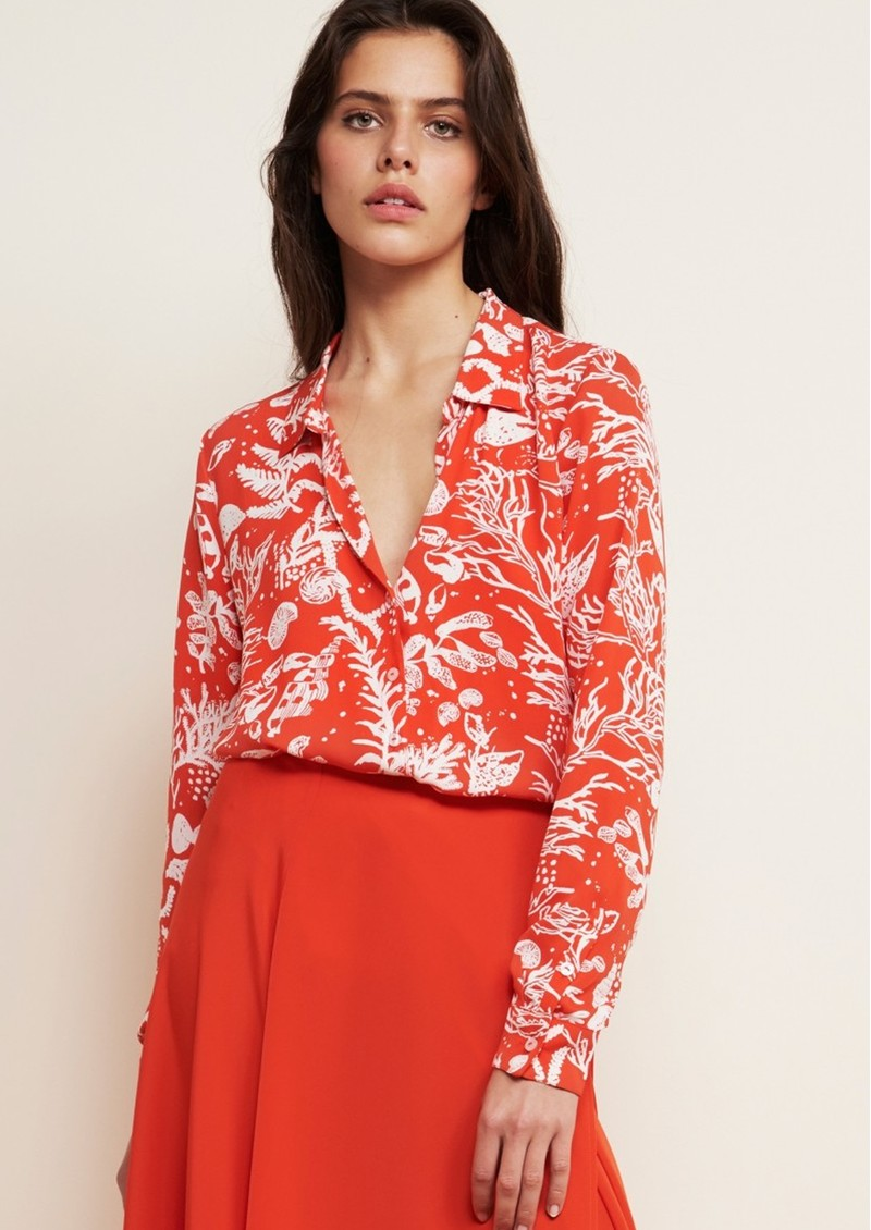 FABIENNE CHAPOT Lily Lou Printed Blouse - Cool Coral main image