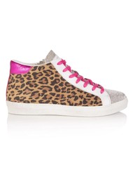 AIR & GRACE Alto Trainer - Leopard & Pink Metallic