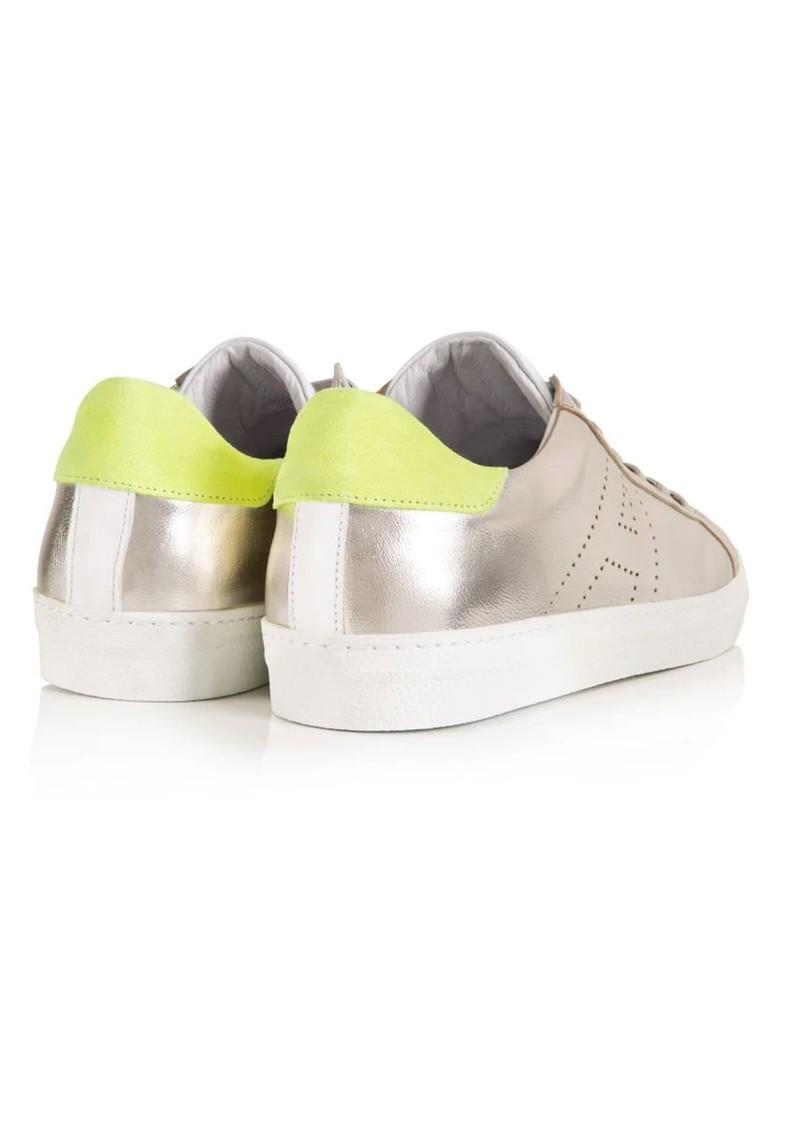 AIR & GRACE Cru Signature Trainer - Silver & Neon Yellow main image