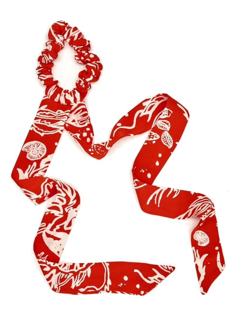 FABIENNE CHAPOT Scottie Scrunchie - Crazy Coral main image