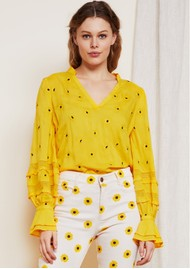 FABIENNE CHAPOT Cleo Top - Sunflower Yellow