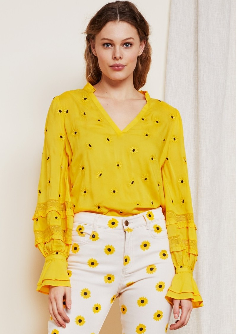 FABIENNE CHAPOT Cleo Top - Sunflower Yellow main image