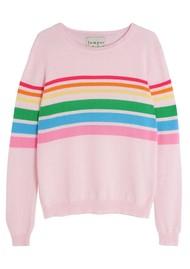 JUMPER 1234 Reboot Rainbow Cashmere Sweater - Blossom