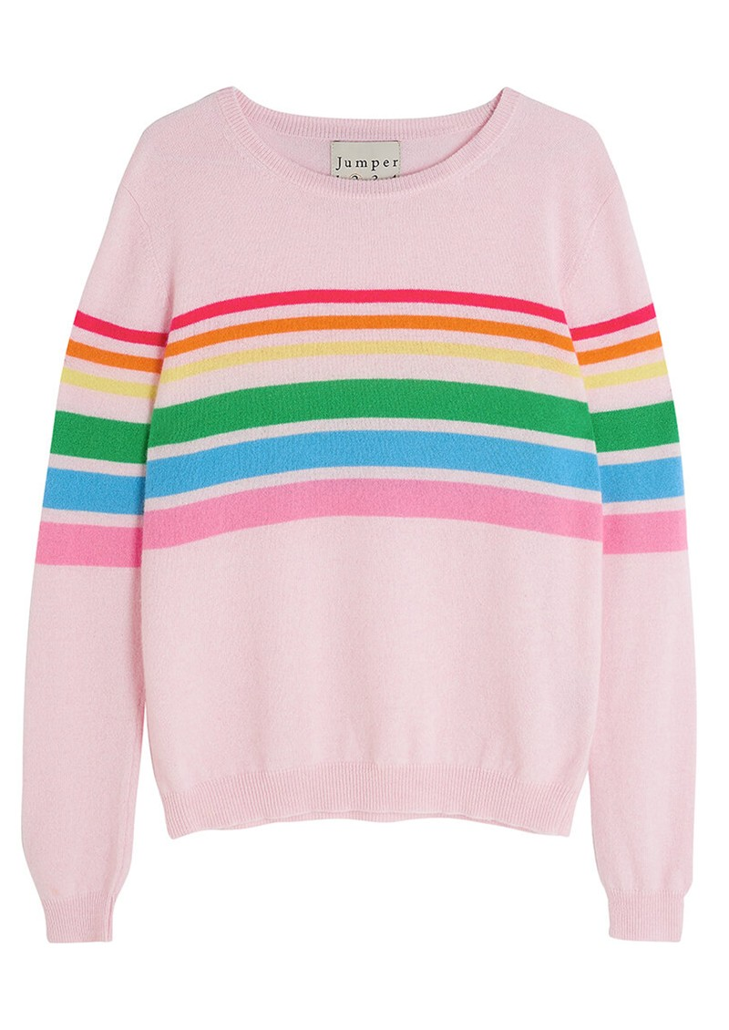 JUMPER 1234 Reboot Rainbow Cashmere Sweater - Blossom main image